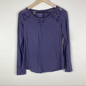 Maurices long sleeve lace shirt women's small